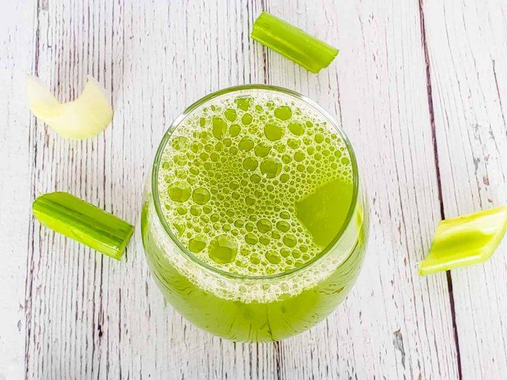 celery juice made in a blender