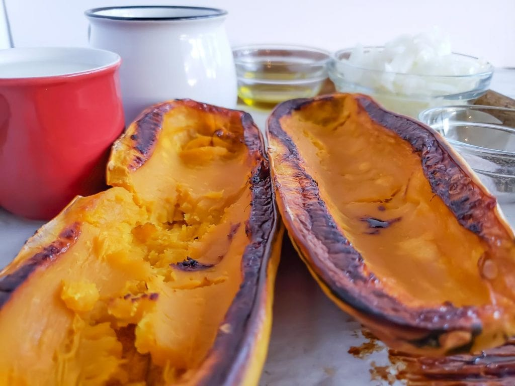 roasted delicata squash for soup