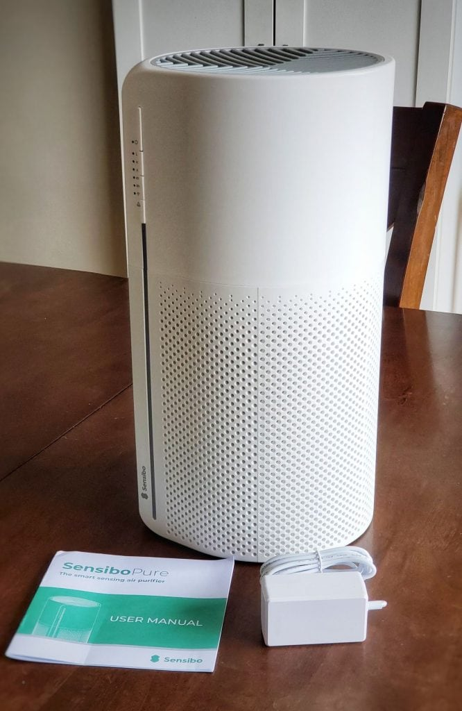 Sensibo Pure air purifier with instruction booklet and plug