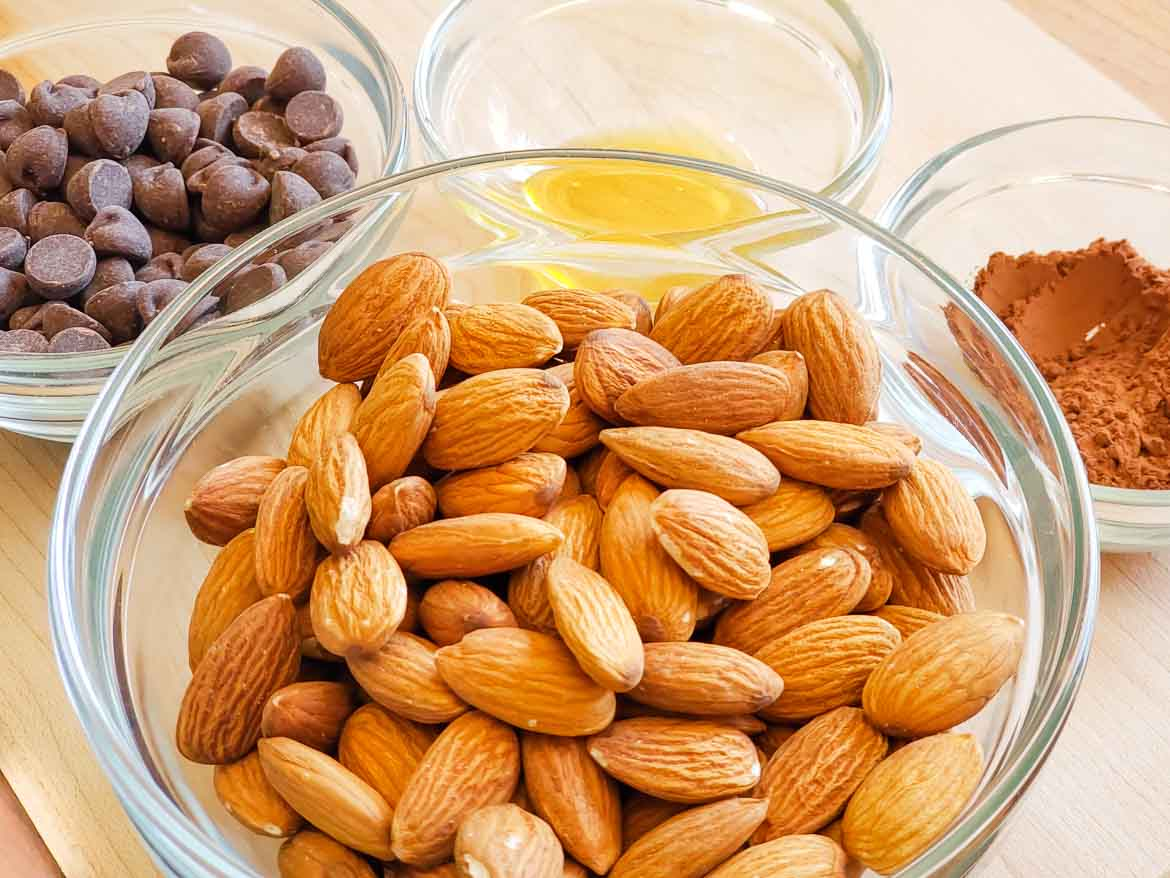 ingredients for chocolate Almond Butter