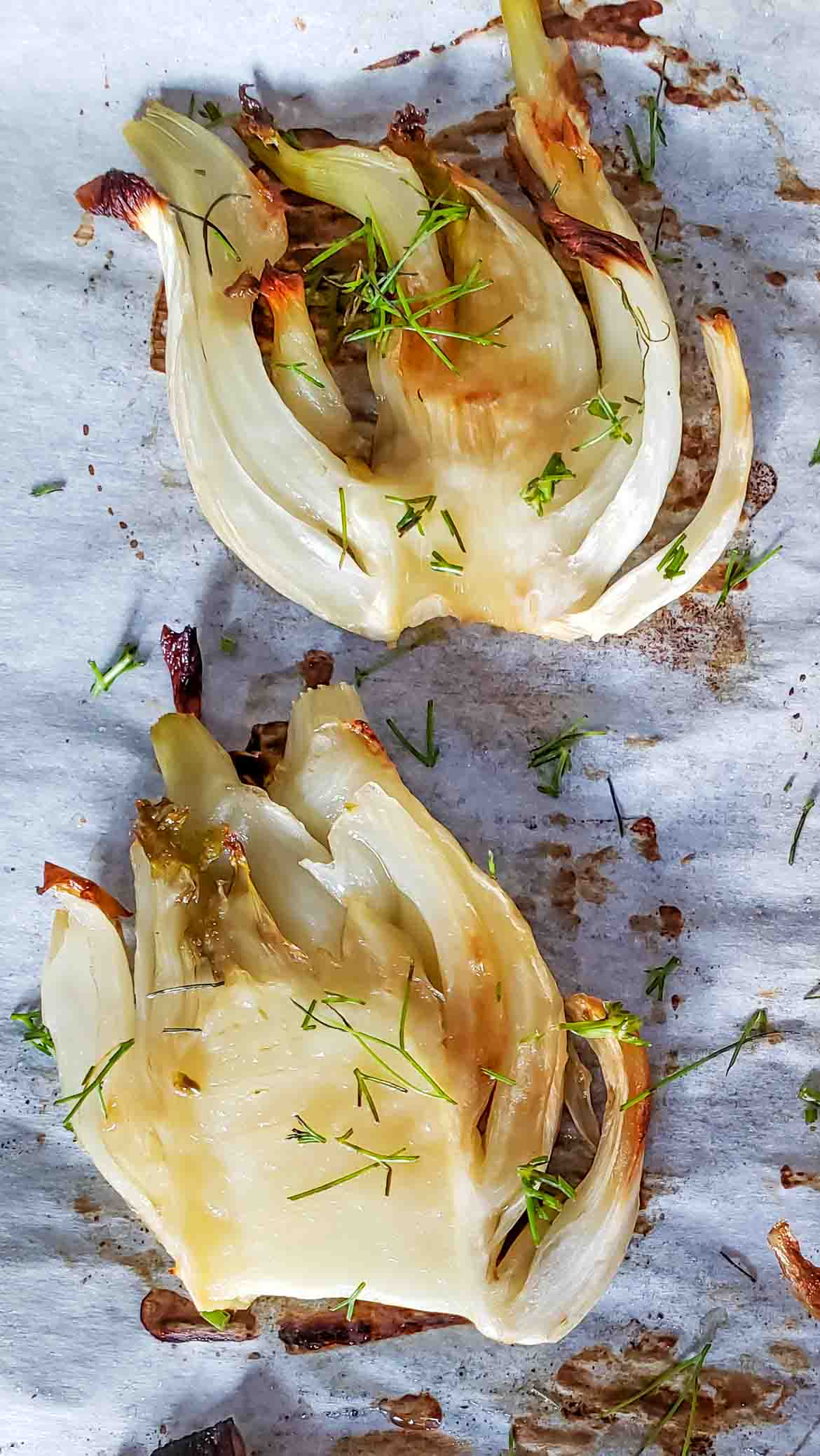 slow roasted fennel slices