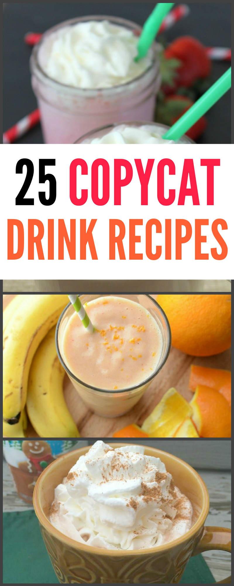 25 Easy Copycat Drink Recipes You will Love #drink #copycat #starbucks #Starbuckscoffee