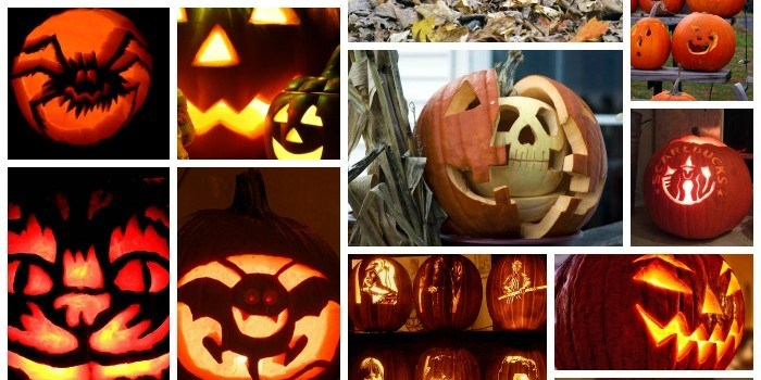 700 Pumpkin Carving Stencils Collage