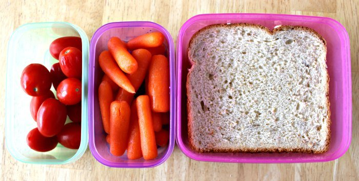 A simple lunch in Rubbermaid LunchBlox