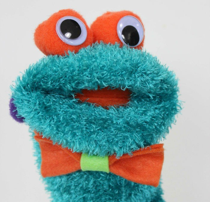 Adorable DIY Monster Sock Puppet Cutie