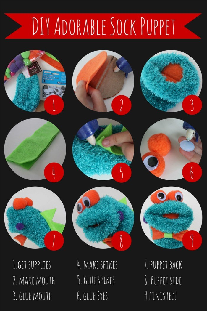 Adorable DIY Monster Sock Puppet