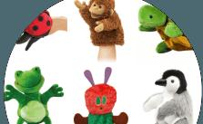 Adorable sock puppets on Amazon