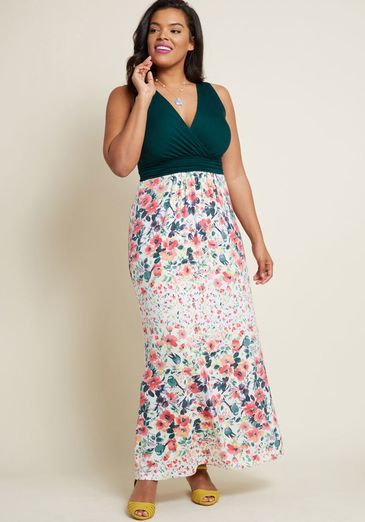 Adore County Maxi Dress in Watercolor Flowers