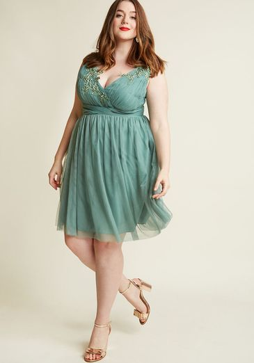 Adrift on Elegance A-Line Dress in Sage