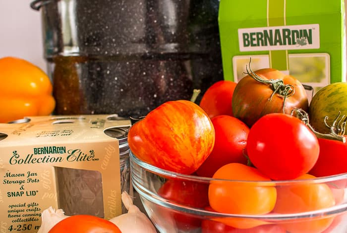 Bernardin canning products with tomatoes and peppers