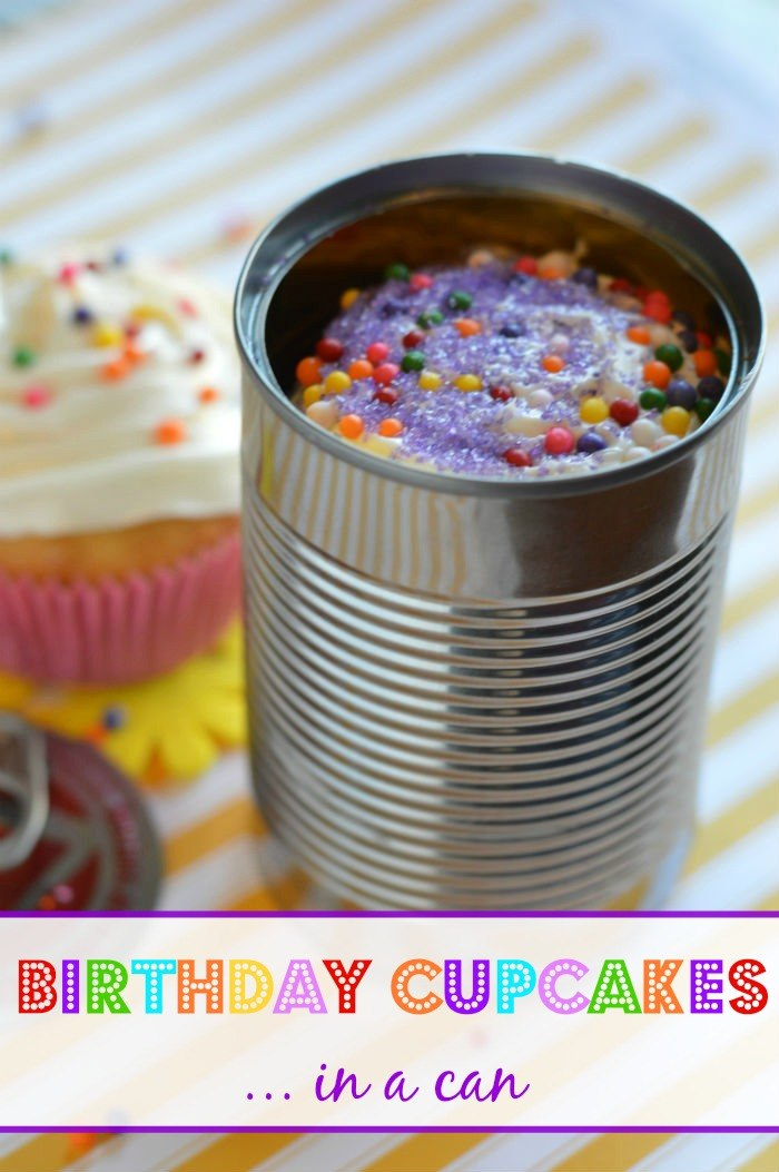 Birthday Cupcakes in a Can