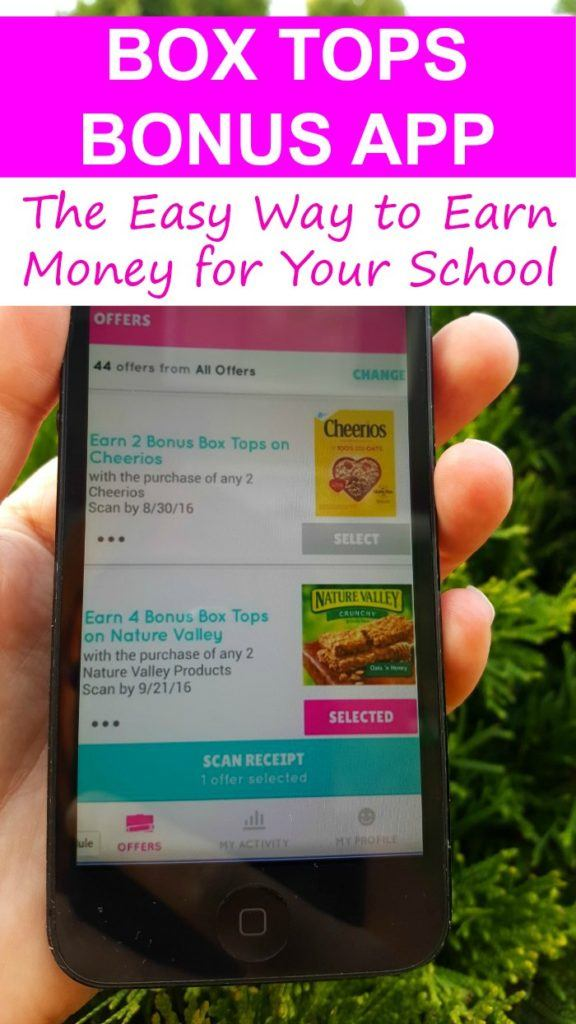 Box Tops Bonus Offers App