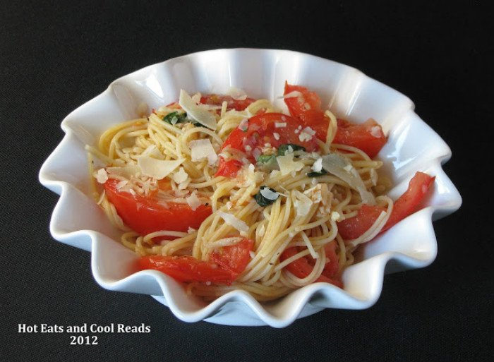 Capellini al Fresco Recipe from Hot Eats and Cool Reads