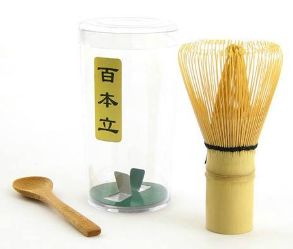 Chasen Green Tea Whisk and Small Scoop for preparing Matcha