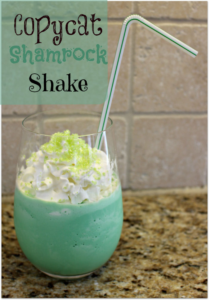 Copycat Shamrock Shake from Princess Pinky Girl