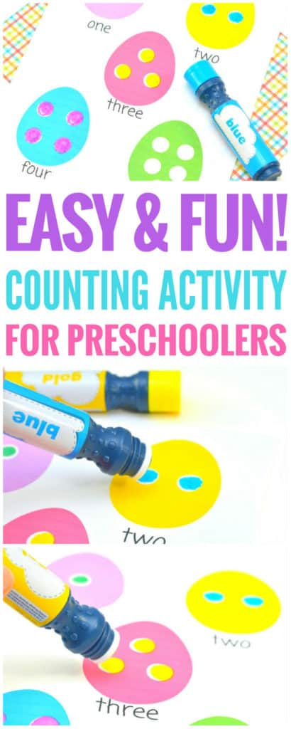 Counting activity for preschoolers. Looking for a fun number activity for your little one? This is a no fuss, easy to clean dot marker printable | free dot marker printable numbers | dot marker activities | dot marker kids | dot marker preschool | dot marker toddler | Counting activity for preschoolers