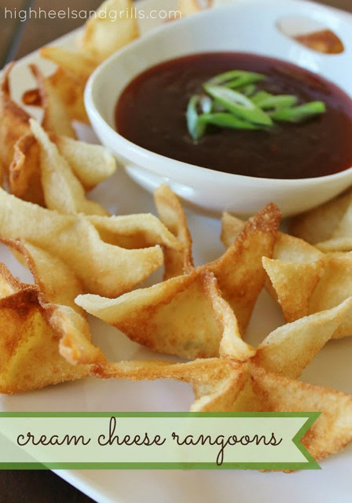 Cream Cheese Rangoons from High Heels & Grills