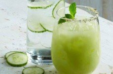 Cucumber Basil soda from CPK