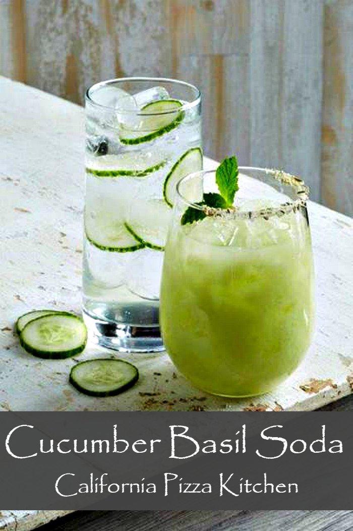 Cucumber Basil soda