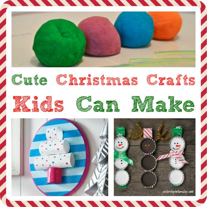 25 cute christmas crafts kids can make for Cute christmas crafts for toddlers