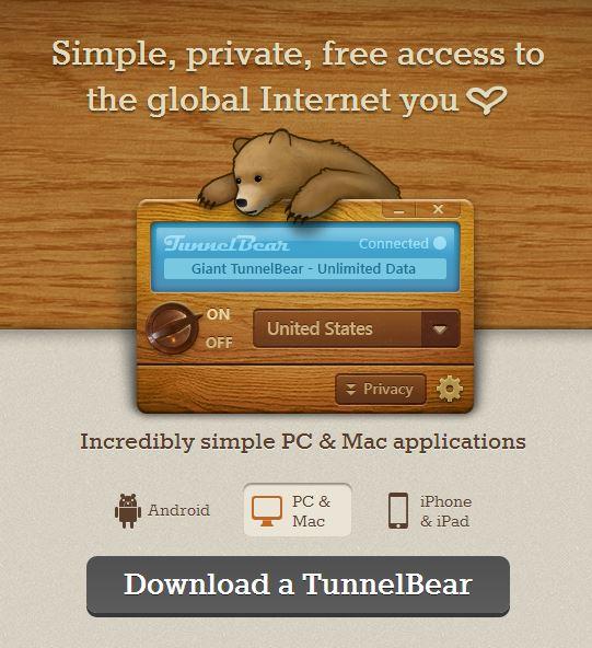 Download Tunnelbear TunnelBear Canada review