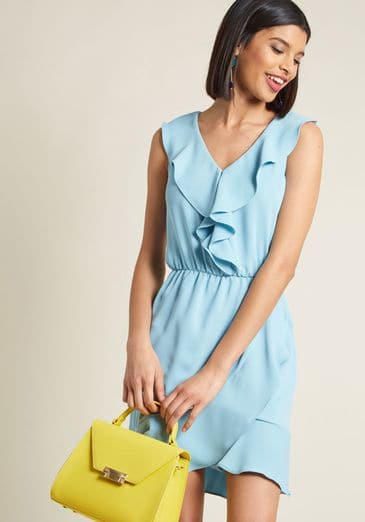 Dressed to Frill Ruffled Sleeveless Dress