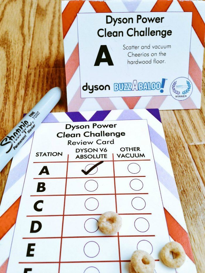 Dyson V6 Absolute Challenge with Cheerios card