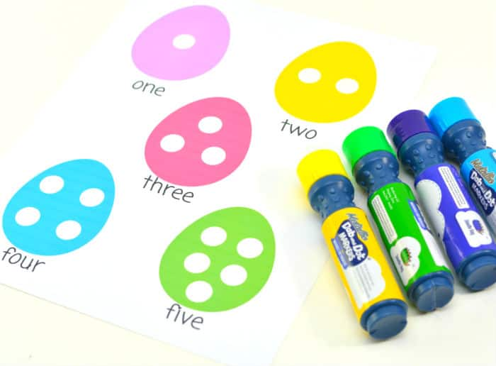 Easter Egg Dot Marker markers and all eggs