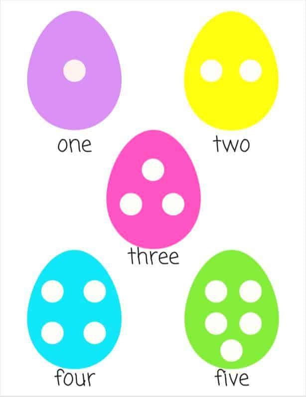 Easter Egg Printable Worksheet