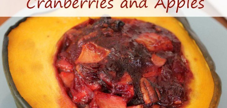 Easy Acorn Squash with Cranberries and Apples SM