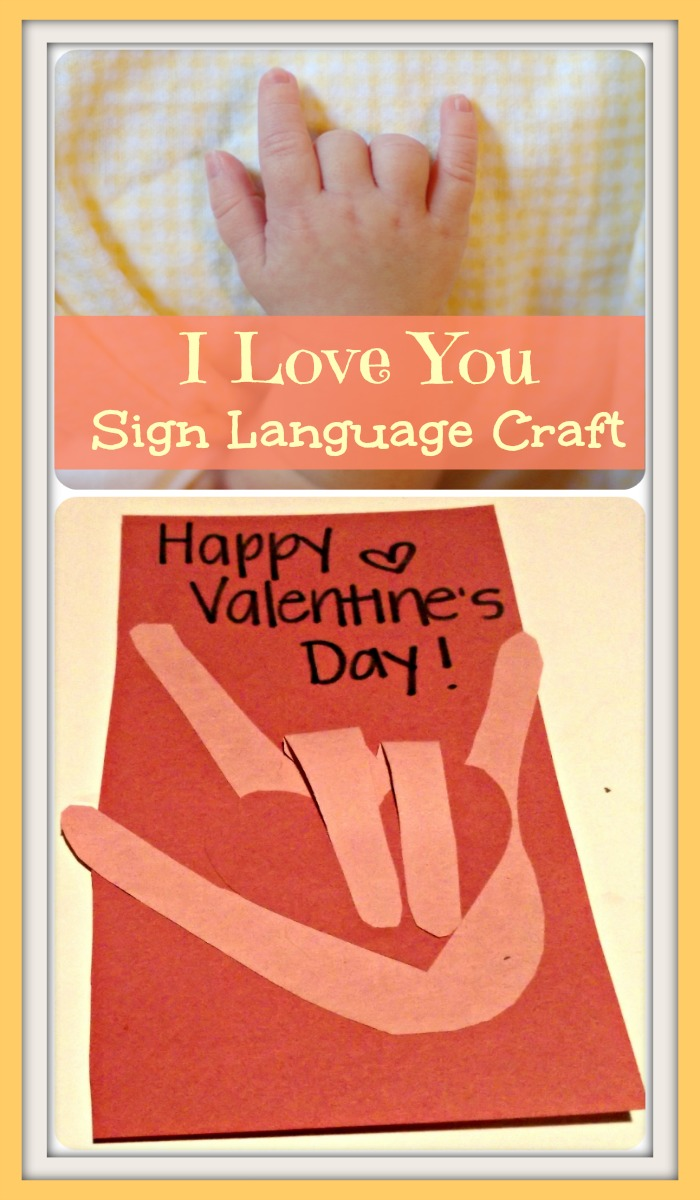 Easy I Love You In Sign Language Heart Craft