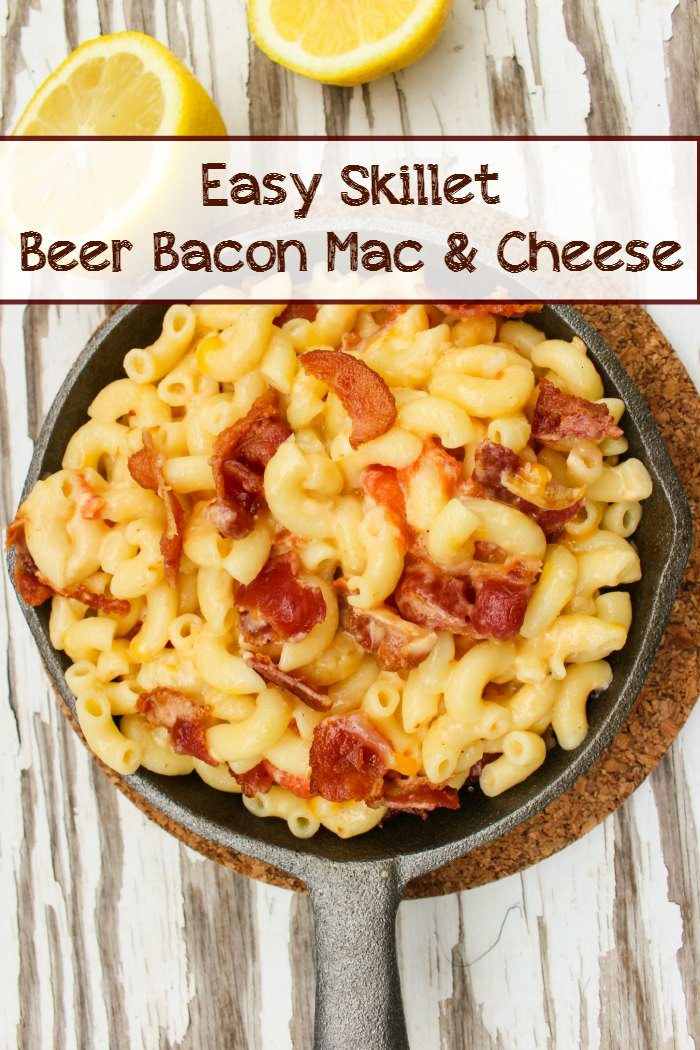 Easy Skillet Beer Bacon Mac and Cheese Recipe