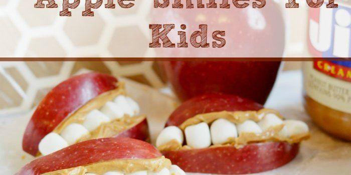 Easy To Make Apple Smiles For Kids SM