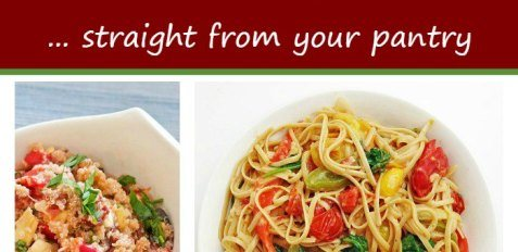 Easy Vegetarian Meals Straight From Your Pantry SM