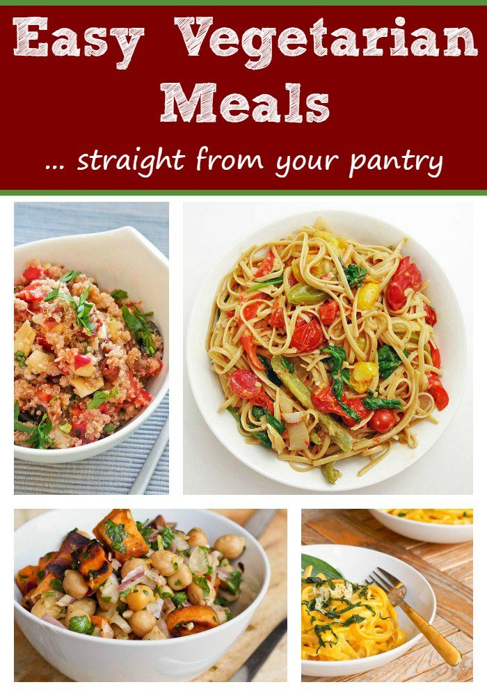 Easy Vegetarian Meals Straight From Your Pantry
