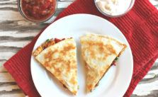 Easy Vegetarian Quesadilla Recipe with Campbells Cheddar Cheese Soup