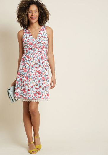 Ecstatic Occasion Cotton A-Line Dress