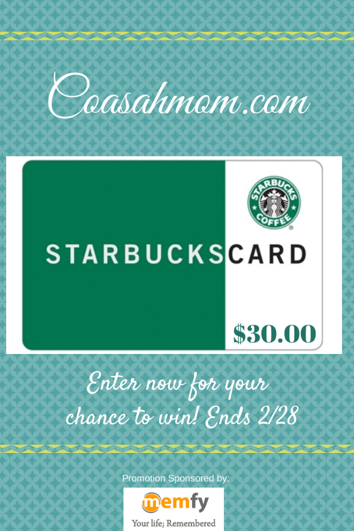 Enter to Win a $30 Starbucks Gift Card with Memfy Giveaway Ends Feb 28 2014