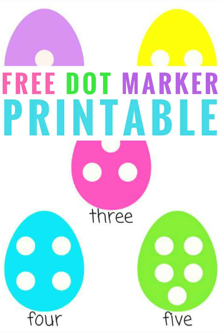 Are you looking for a FREE dot marker printable? We love this adorable egg printable that doubles as a fun counting activity as well! dot marker printable | free dot marker printable numbers | dot marker activities | dot marker kids | dot marker preschool | dot marker toddler | Counting activity for preschoolers