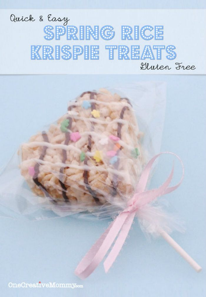 Frosted Rice Krispie Treats Gluten Free Option from One Creative Mommy