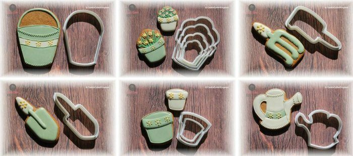 Gardening cookie cutters