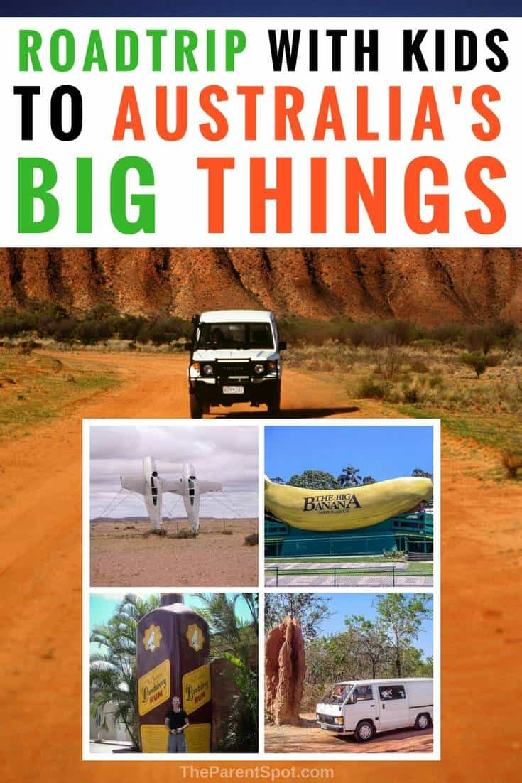 Have you ever wanted to road trip Australia? Here's a fun road trip idea for families_ visit Australia's Big Things with the kids. #Australia #travel