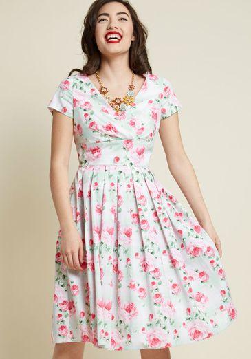 Hell Bunny Blossom Toss-Up Midi Dress
