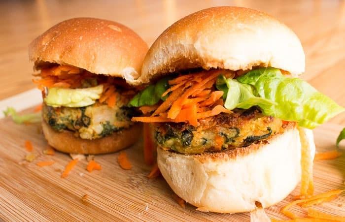 HelloFresh cannellini veggie burgers