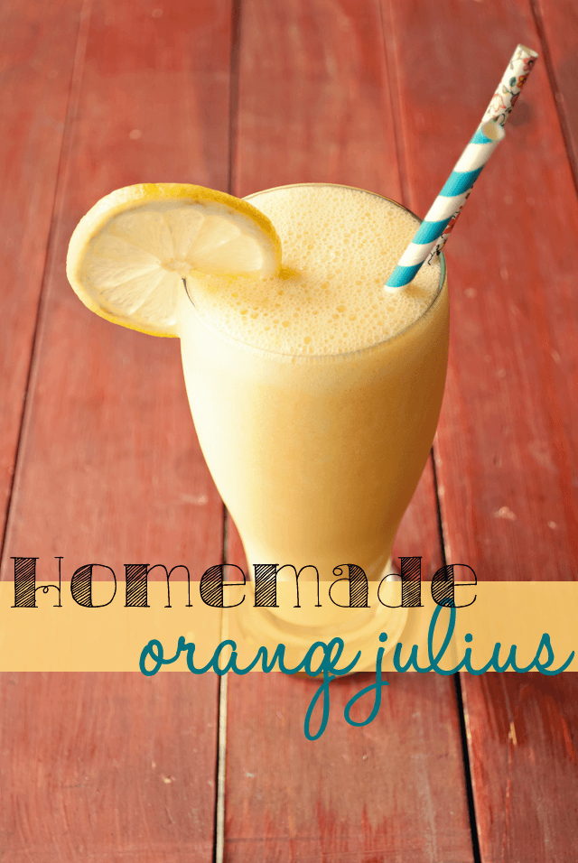 Homemade Orange Julius from Mrs Three in Three