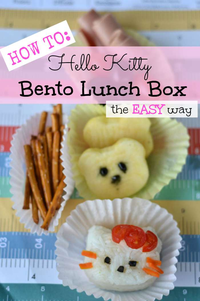 how to make a hello kitty bento lunch box the easy way. Black Bedroom Furniture Sets. Home Design Ideas