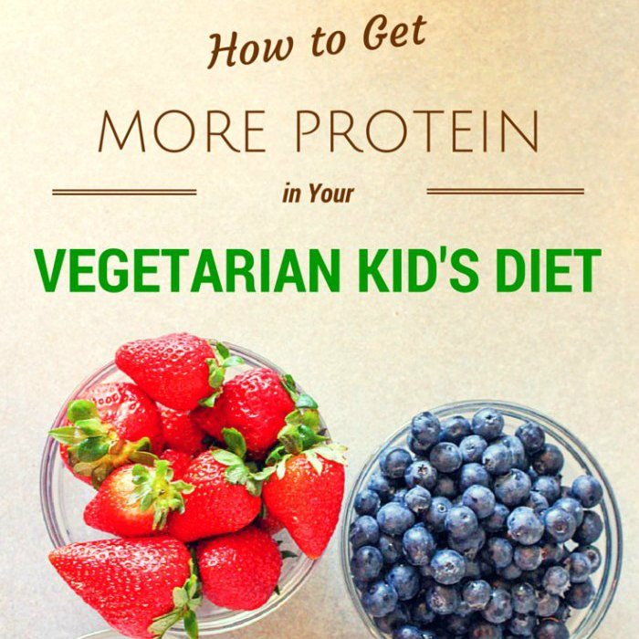 How to Get More Protein in Your Vegetarian Kid's Diet