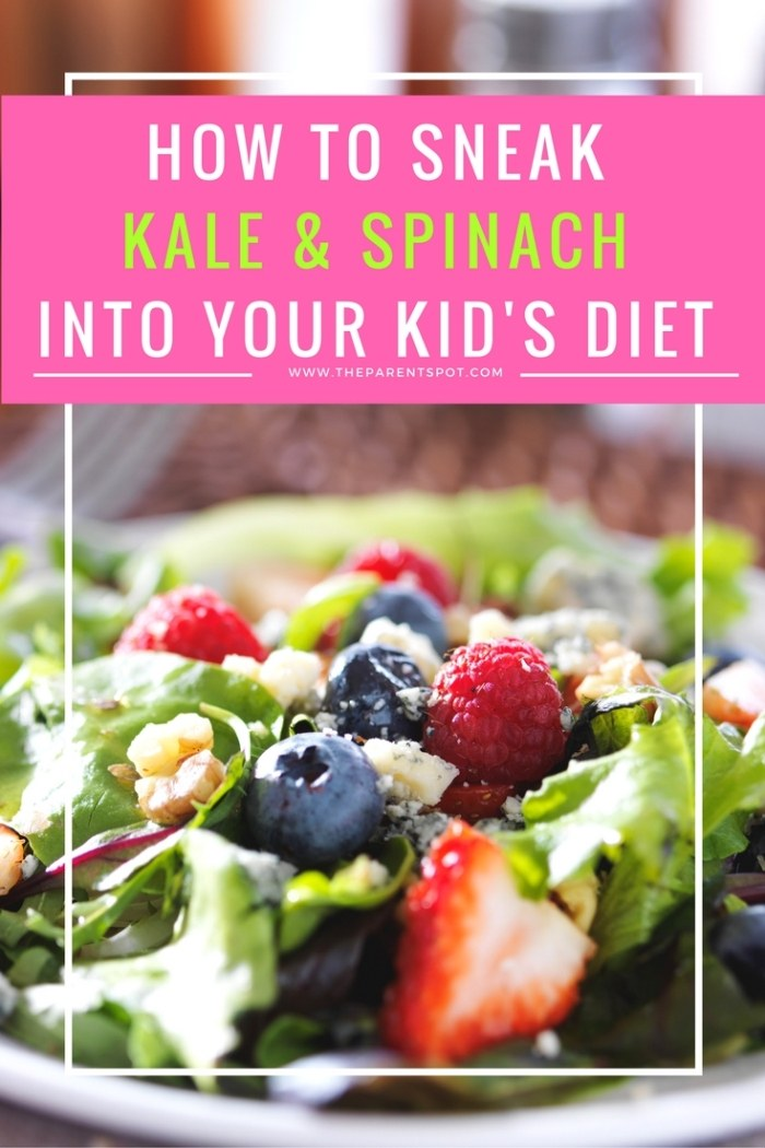 How to Sneak Kale and Spinach into your Children's Diet