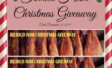 Iberico Ham Christmas Giveaway