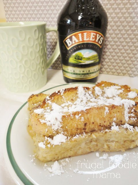 Irish Coffee French Toast Casserole by The Frugal Foodie Mama